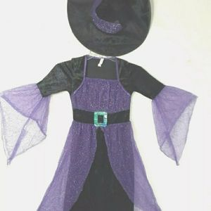 Unbranded Halloween girl's witch costume sz M 8-10